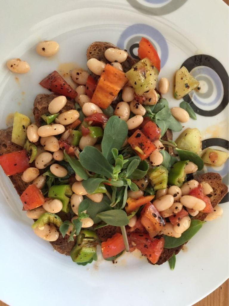 Bean Salad on Toast