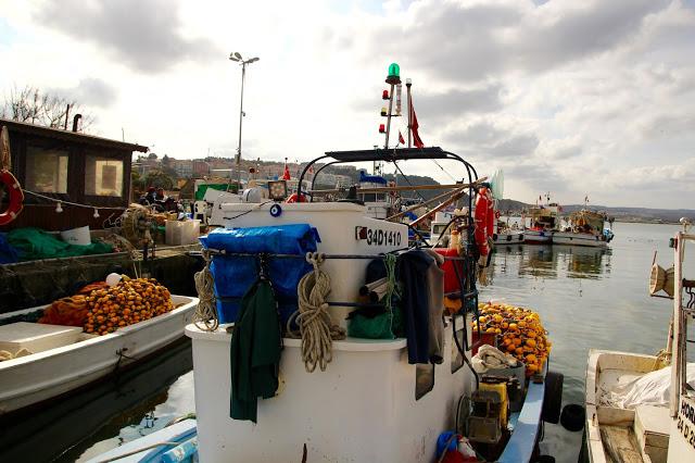 the harbour in Şile