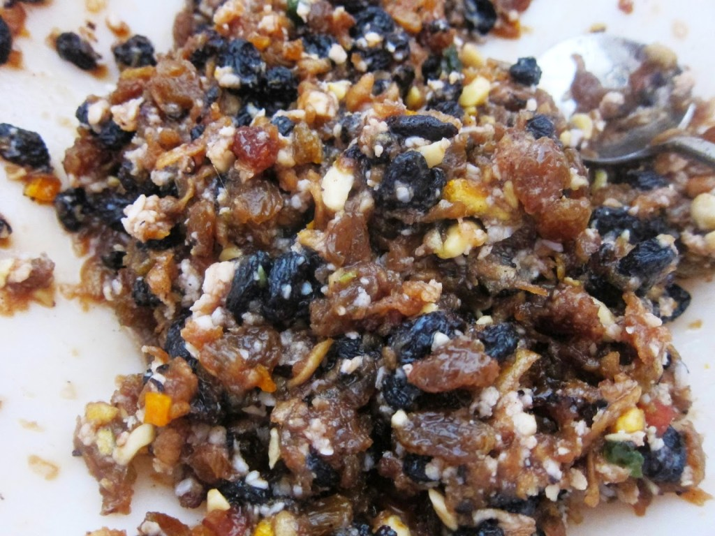Ingredients for mincemeat