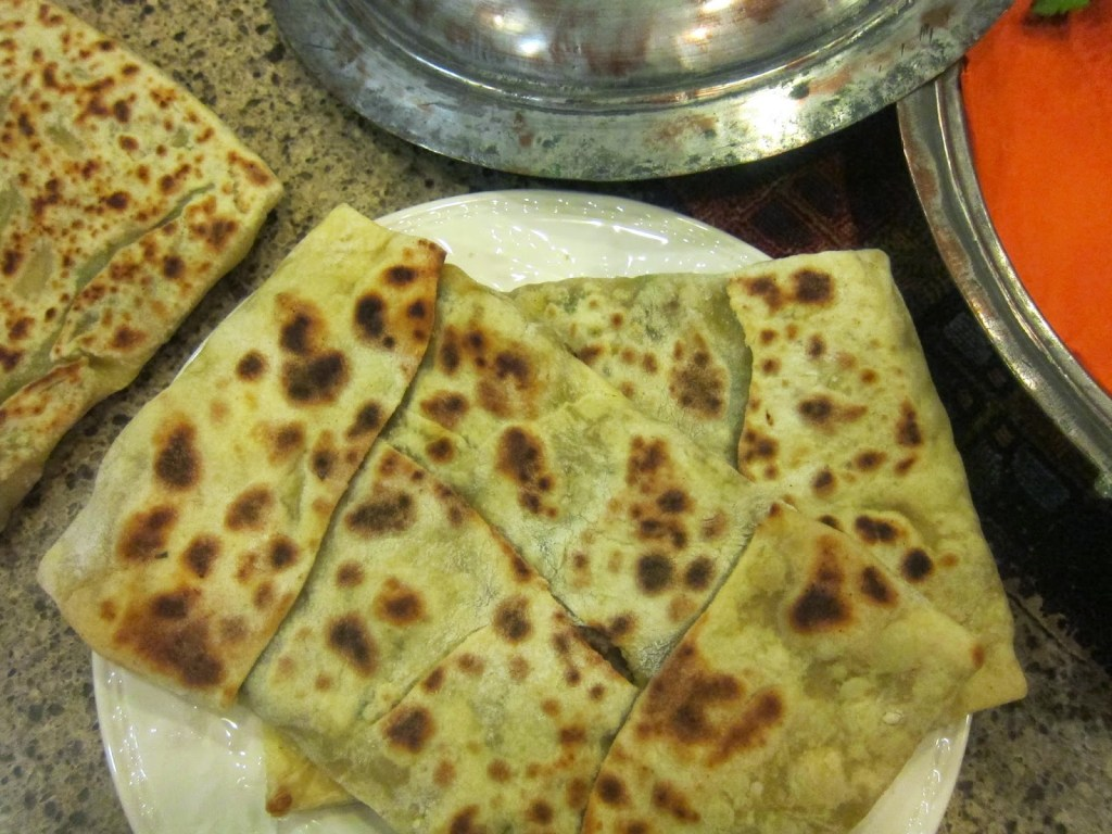 Flat bread cooked
