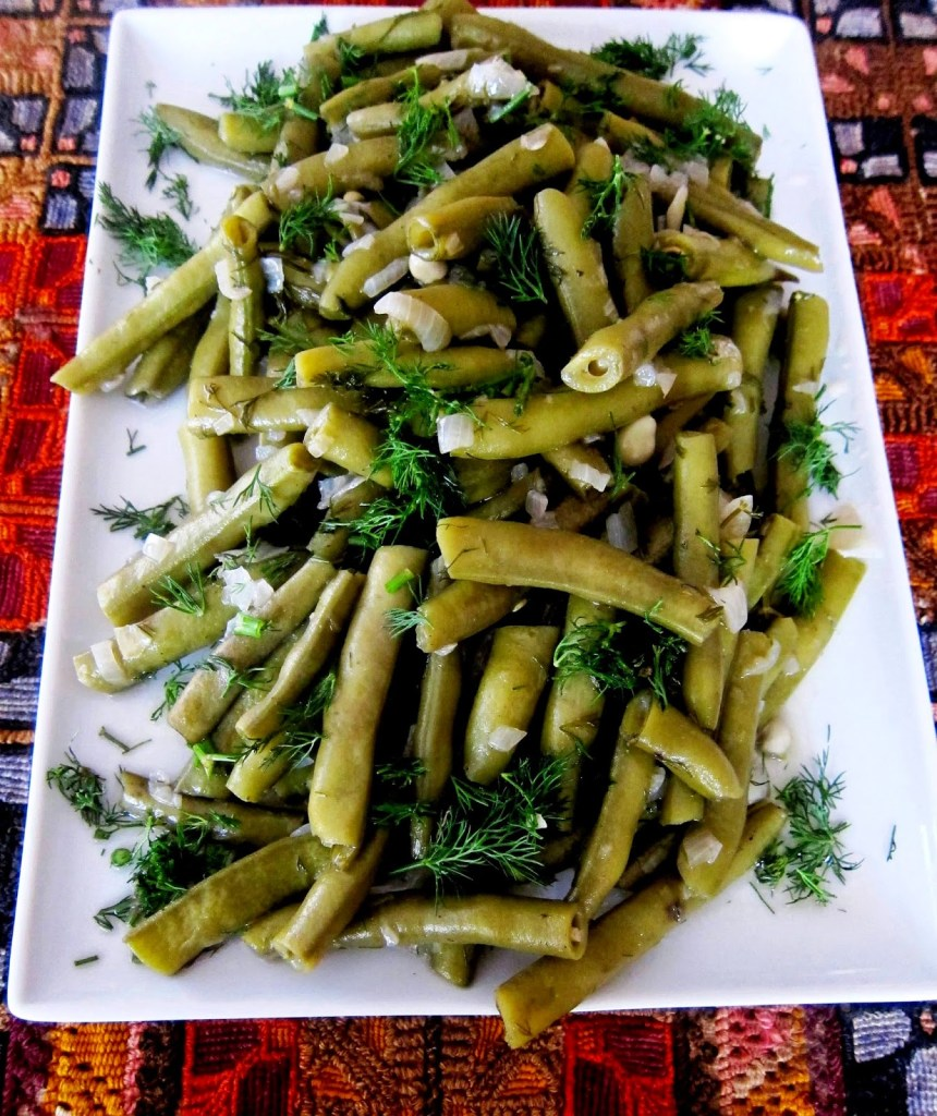 broad beans cooked in olive oil