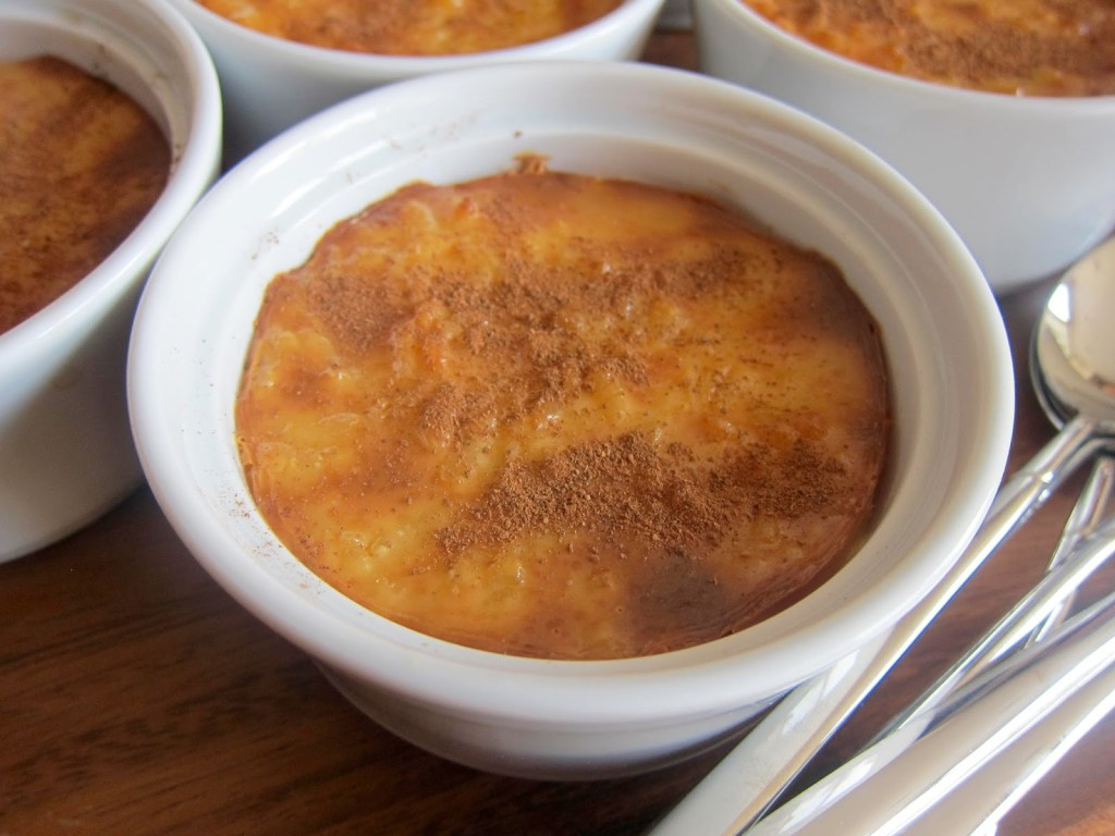 Turkish rice pudding baked in the oven