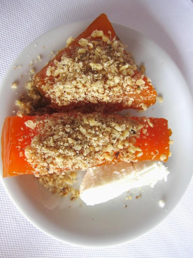 Pumpkin Dessert with Chopped Walnuts