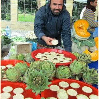 artichokes at the market