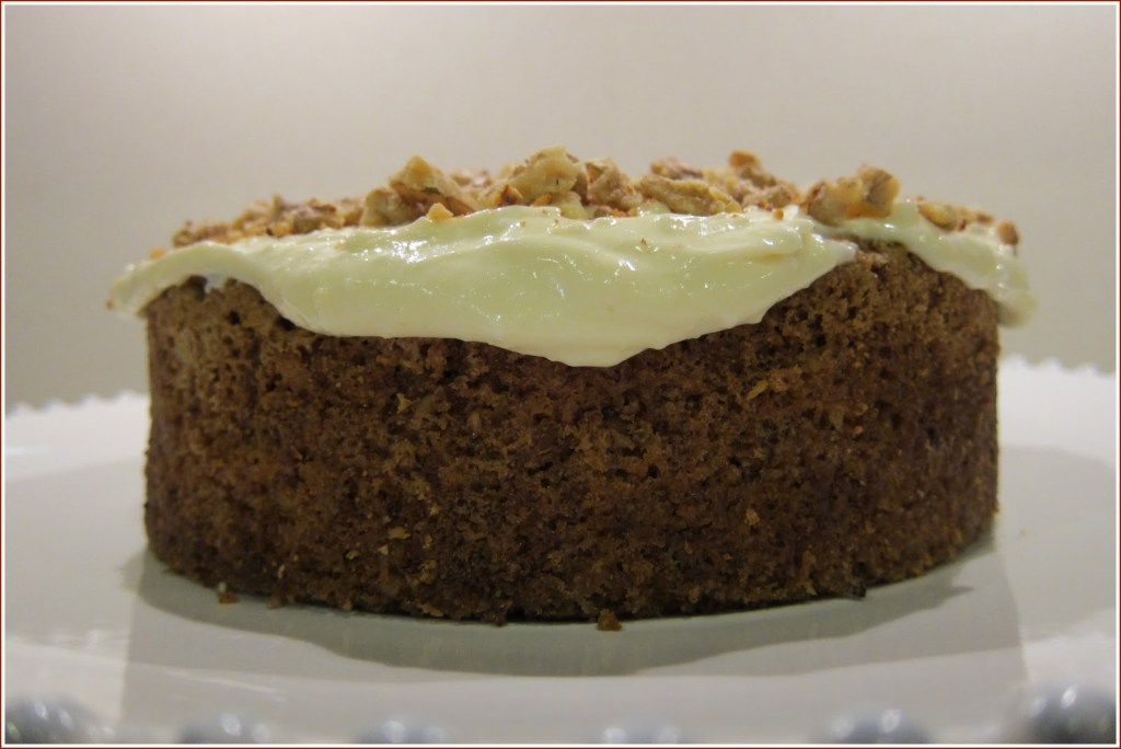 Carrot and walnut cake in all its glory