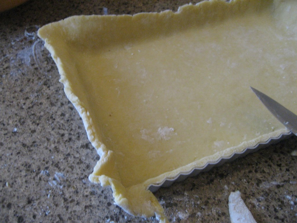 trimming pastry edge