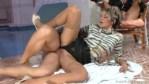 Two Ladies in Shiny Shiny Tan Nylon Pantyhose & Stockings get Fucked