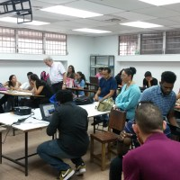 Visita de estudiantes de Jamaica