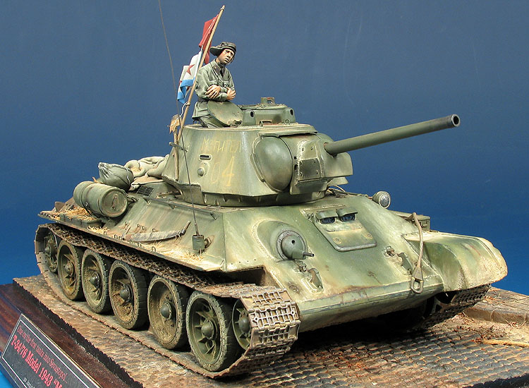 "T-34/76 Modelo 1943 ""Mstitel, one on the first tanks into Sebastopol""."
