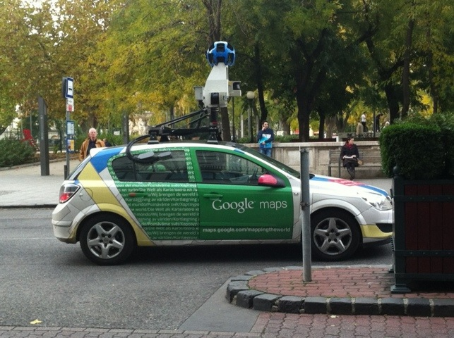 Google car in Budapest