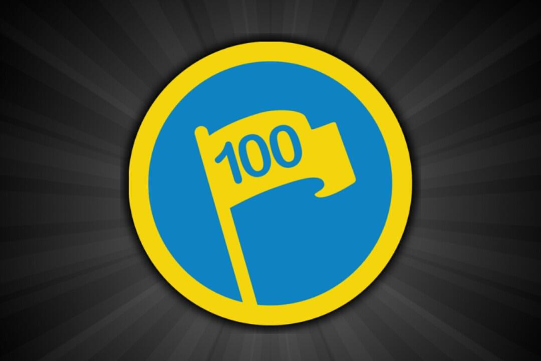 "Unlocked the ""Century Club"" badge!"