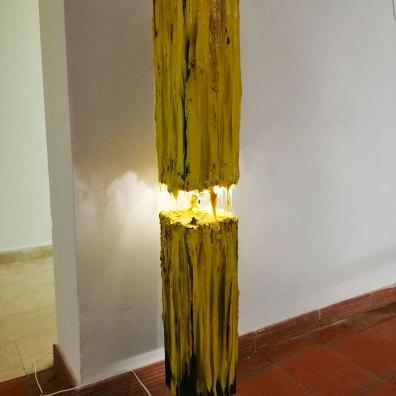 materia E LUCE lampada silicone su acciaio H150