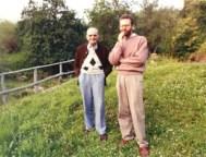 con Attilio Bertolucci a Casarola