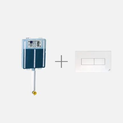 Idea, cassetta ad incasso per vasi a pavimento completa di canotti e placca di Todini