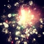 fireworks on the sea