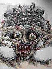 Expuesta en Zombiexquisito 2016. Galería El Hatillo.