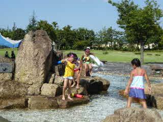ジャブジャブ池での写真1
