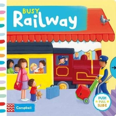 Busy Railway Sampul Buku