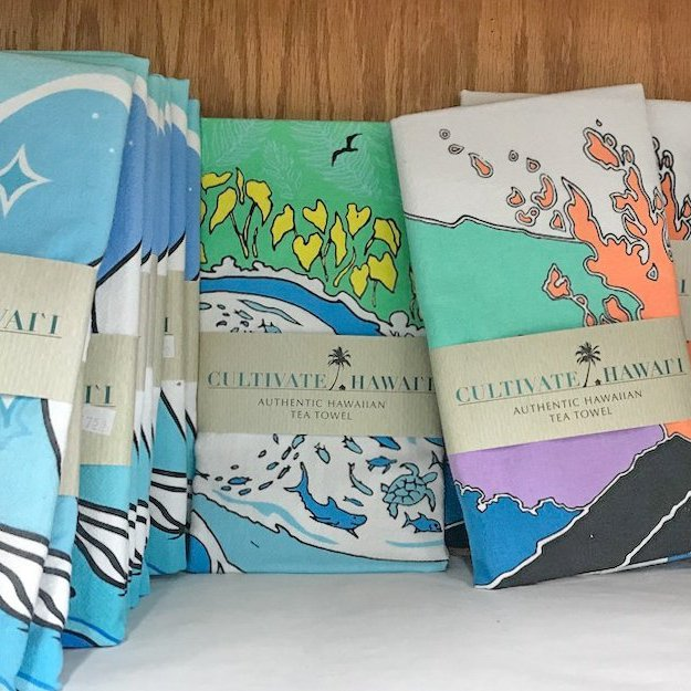 Cultivate Hawaii Tea Towel available in several designs
