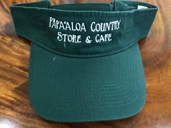 Papaaloa Country Store Visor in the color forest green