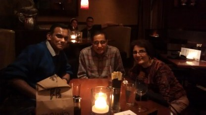 With Aunt Gemma and Uncle Vivian at P.F. Chang's - Lovely Asian fusion cuisine