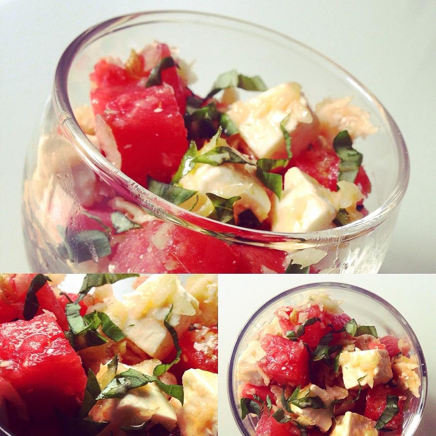 Salade de Feta, pastèque et fenouil