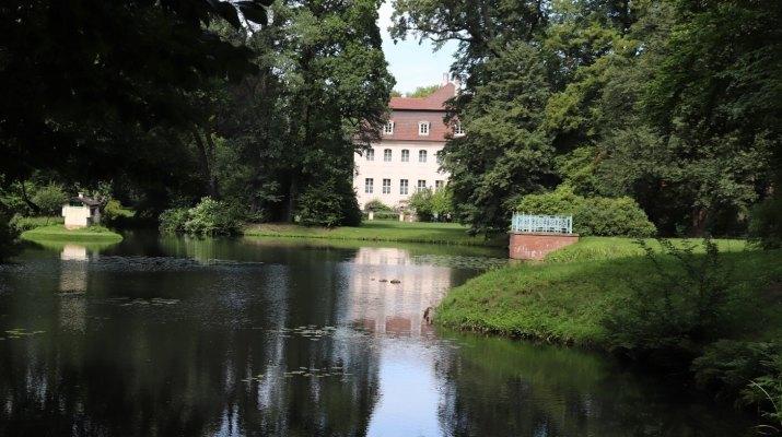 Branitzer Park mit dem Schloss des Fürsten Pückler-Muskau