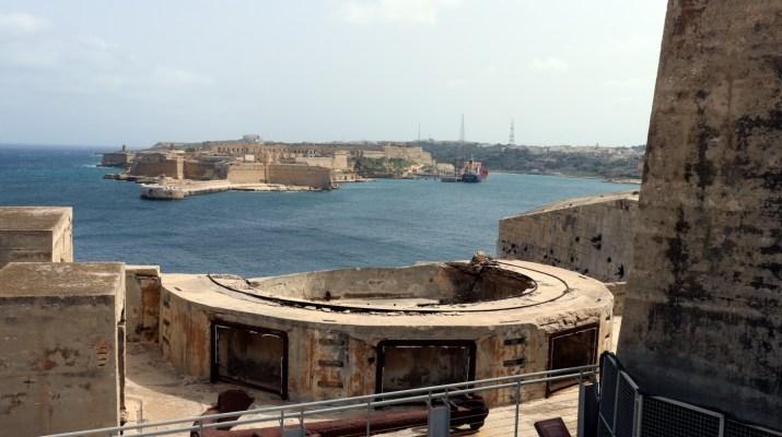 Blick von Fort St. Elmo zum Fort St. Angelo