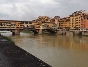 Westliche Seite der Ponte Vecchio in Florenz