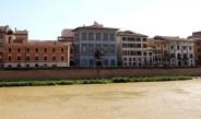 Der Palazzo Blu am Arnoufer in Pisa