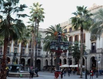 Die Placa Reial in Barcelona