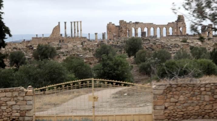 Die antike Stadt Volubilis in der Nähe von Meknes