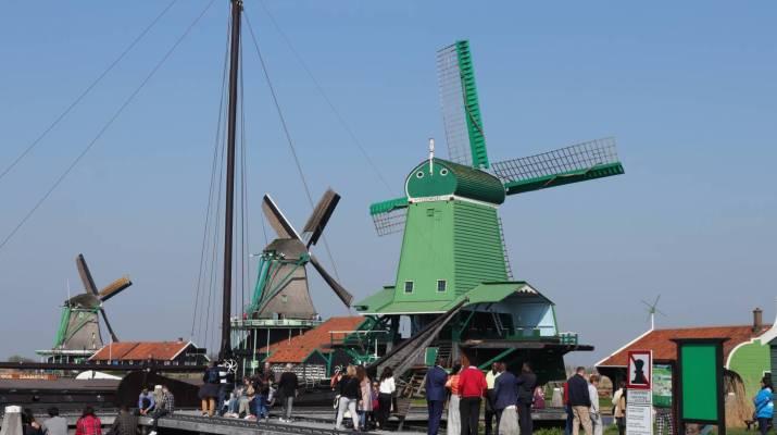 Der Hafen im Museumsdorf Zaanse Schans