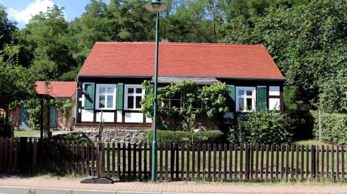 Im Fachwerkhaus in Schiffmühle verbrachte der Vater von Theodor Fontane seine letzen Lebensjahre