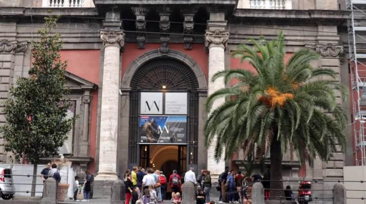 Das Archeologische Museum in Neapel ist gut besucht