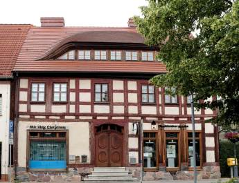 Restauriertes Haus am Markt