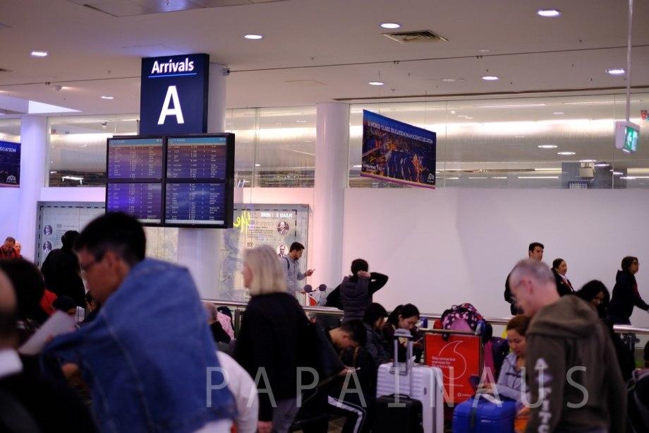 シドニー空港到着ゲート