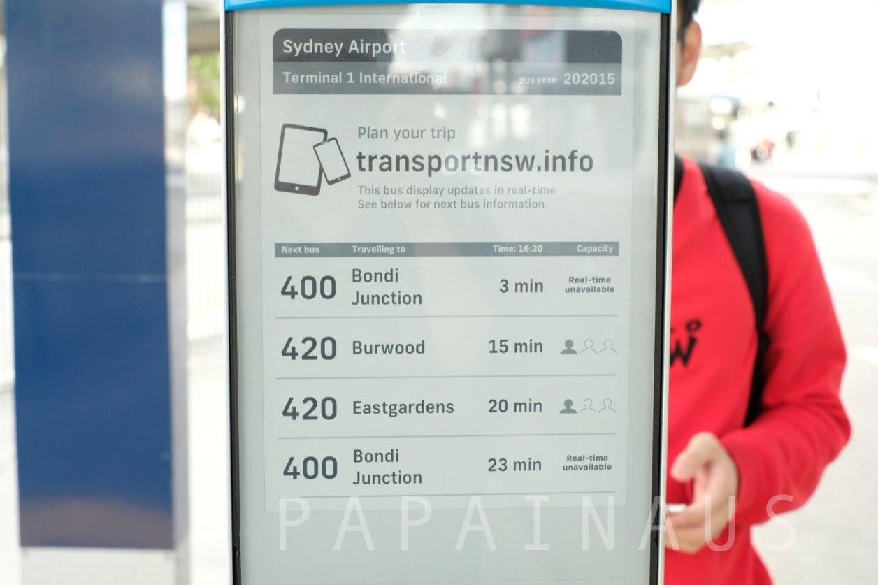 420番のバスでBanksia駅に向かう