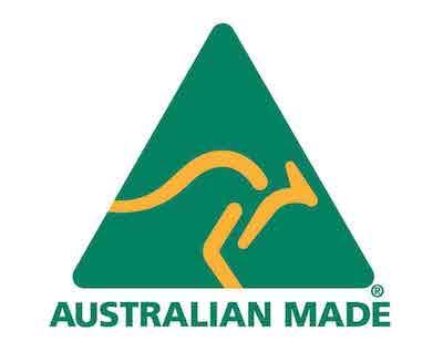 Australian Madeロゴ。オーストラリアで製造された製品のみに使えるロゴ