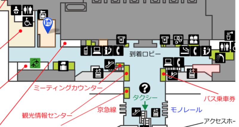 羽田AIR BIG CAMERA地図