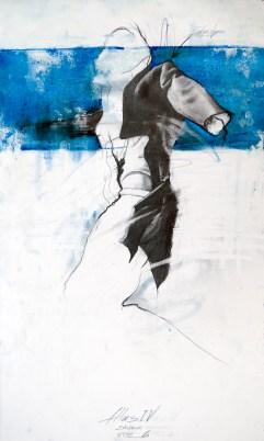 'Atlas IV', Pencil and oil on paper, 59cm.X36cm.,2011
