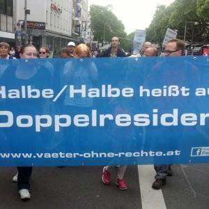 Demo in Köln gegen die Un-Gleichbehandlung von Trennungsvätern