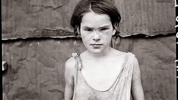 Kinderarmut 1936 in den USA