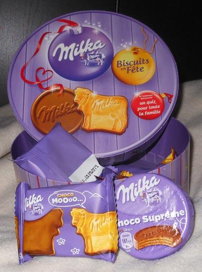 Biscuits en fête Milka