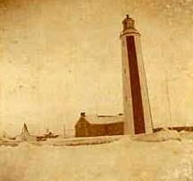 La pointe Ouest en hiver à Port-Menier sur l'île d'Anticosti