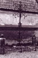 Tombe LEVOIR, cimetière de Canchy : Jules LEVOIR, beau-père d'Anatole LANDRIEU (4) - (photo du 24/10/1967)
