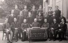 1913-1914 - Max LANDRIEU (441) (dernier rang, 3ème à gauche), collège Notre-Dame de Valenciennes, classe de 1ère