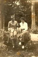1914-18 - Famille Pierre LANDRIEU (26) au Bois des Bryiers à St Valéry/Somme - Pierre WATEL (ami) - Célina SNOOK-LANDRIEU (x 26)