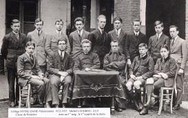 1922-1923 - Michel LANDRIEU (445) (1er rang, 1er à droite), collège Notre-Dame de Valenciennes, classe de 1ère