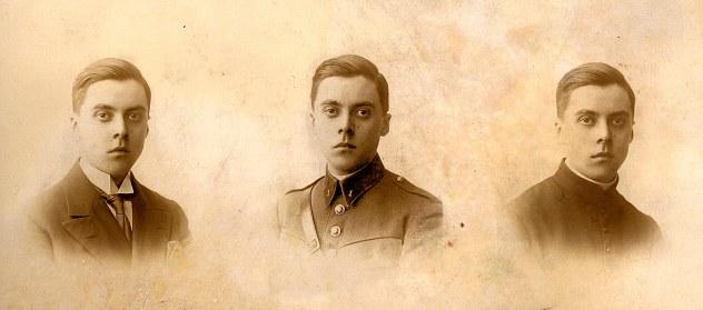 1930 - Michel LANDRIEU (445) - En civil, en uniforme et en soutane